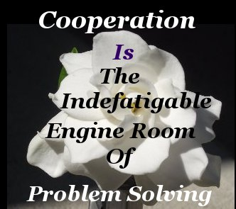 Cooperation is the indefatigable engine room of problem solving