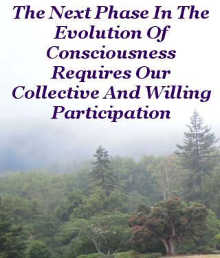 The next phase in the evolution of consciousness requires our collective and willing participation