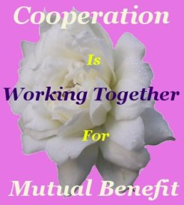 Cooperation is working together for mutual benefit