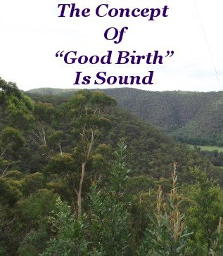 """The concept of """"Good Birth"""" is sound"""
