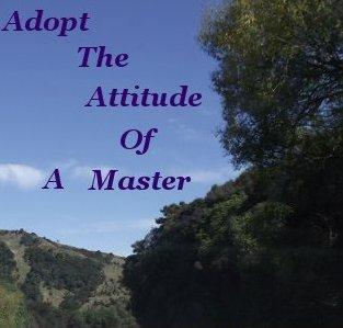Adopt the attitude of a master
