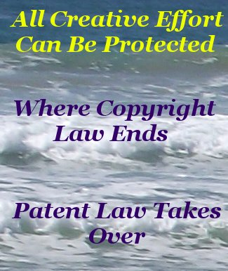 All creative effort can be protected where copyright law ends patent law takes over