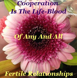 Cooperation is the life-blood of any and all fertile relationships