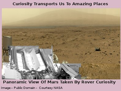 Panoramic view of Mars taken by rover Curiosity