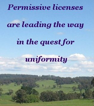 Permissive licenses are leading the way in the quest for uniformity