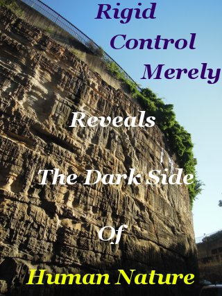 Rigid control merely reveals the dark side of human nature