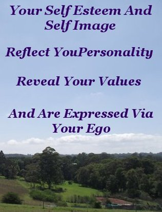 Your self esteem and self image reflect your personality, reveal your values, and are expressed via your ego