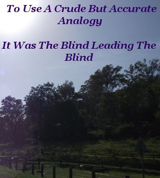 To use a crude but accurate analogy, it was the blind leading the blind