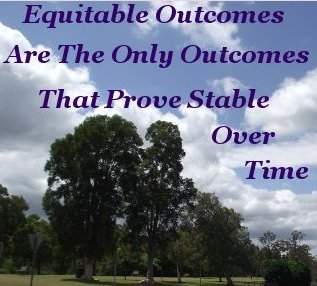 Equitable outcomes are the only outcomes that prove stable over time