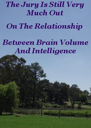The jury is still very much out on the relationship between Brain volume and intelligence