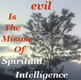 evil is the misuse of spiritual intelligence