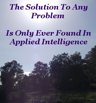 The solution to any problem is only ever found in applied intelligence