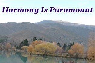 Harmony is paramount
